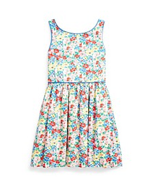Little Girls Floral Poplin Dress