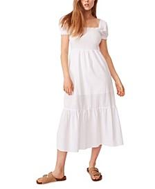 Women's Woven Louise Shirred Maxi Dress