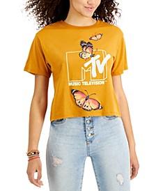 Juniors' MTV Butterfly T-Shirt