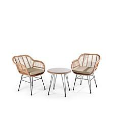 3 Piece Outdoor Patio Conversation Seating Set