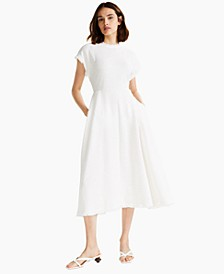 Fringe Trim Fit-and-Flare Dress, Created for Macy's