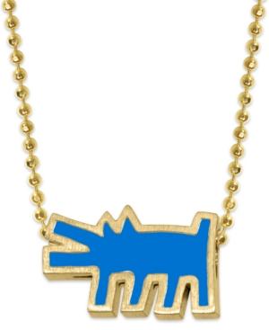 Enamel Dog Pendant Necklace
