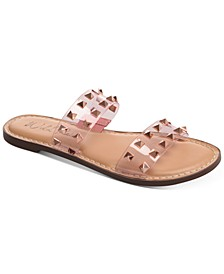 Ginnie Double-Band Slide Flat Sandals, Created for Macy's