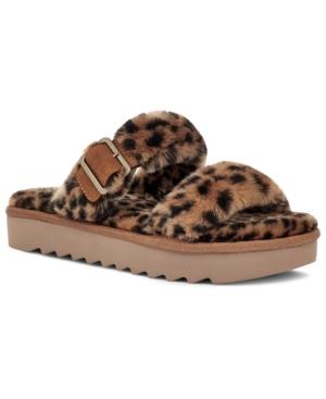Koolabura By Ugg Women's Furr-Ah Cheetah Slipper Sandals Women's Shoes