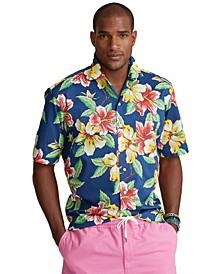 Men's Big & Tall Cotton Camp Shirt