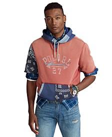 Men's Logo Patchwork Fleece Hoodie