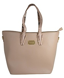 Clairee Two-Tone Snake Tote