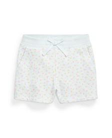 Toddler Girls Floral Fleece Shorts