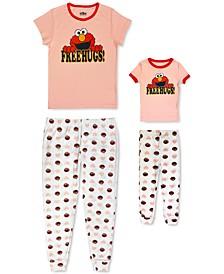 Women's & Toddler Elmo Free Hugs Mommy & Me Pajama Set