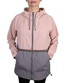 Women's Color Block Lightweight Rain Jacket