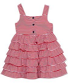 Baby Girls Striped Tiered Dress