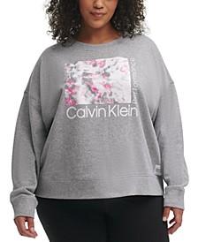 Plus Size Logo-Graphic Pullover Sweatshirt