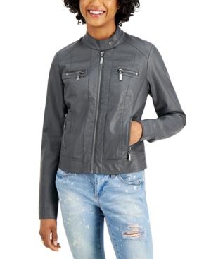 Jou Jou Juniors' Faux-Fur-Lined Moto Jacket