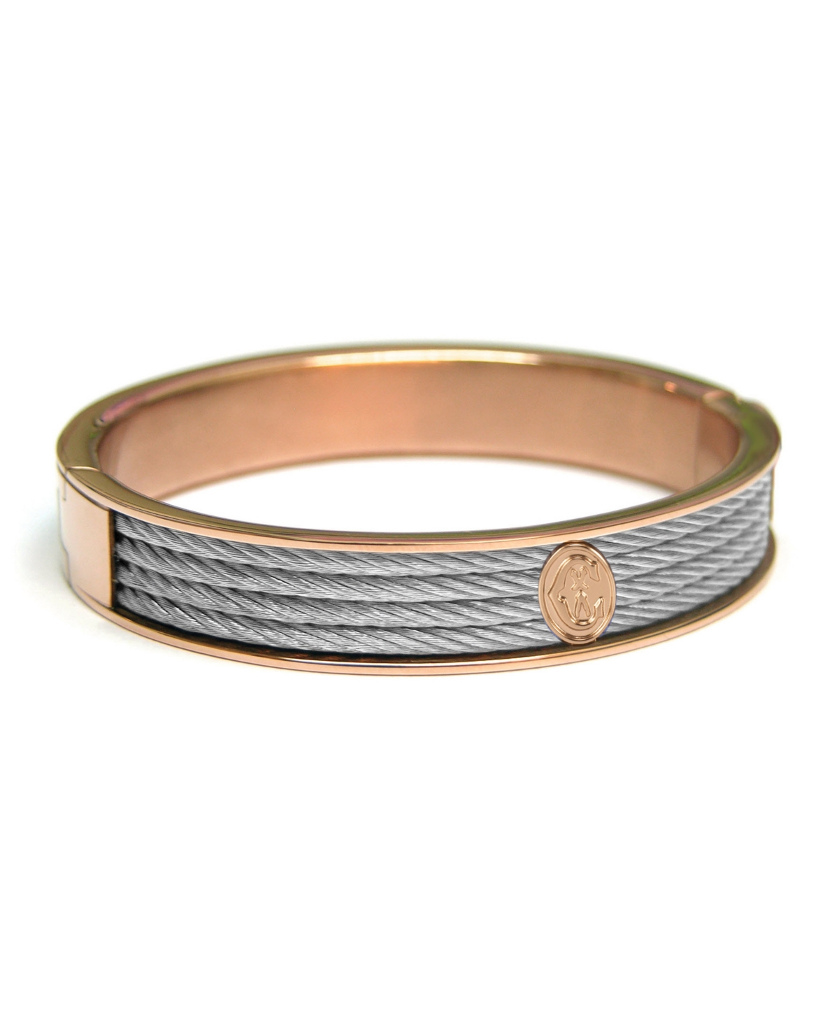 Forever, Bangle, Stainless steel Pvd Rose, Stainless steel cable