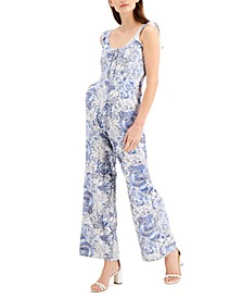 INC Printed Lace-Up Jumpsuit, Created for Macy's