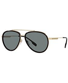 Men's Oliver Polarized Sunglasses, BE3125 59
