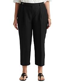 Plus Size Cropped Wide-Leg Pants