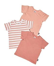 Baby Girl Jamie Short Sleeve Tee, Pack of 3