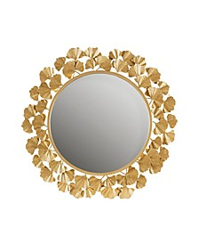 """2 Piece Eden Gold-Tone Foil Ginkgo Mirror Set, 30.5"""" x 30.5"""""""