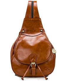Itala Saddle Sling Leather Backpack