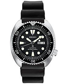 Men's Automatic Prospex Diver Black Silicone Strap Watch 45mm