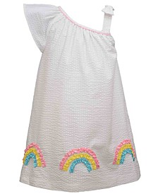Little Girls Asymmetric Seersucker Dress