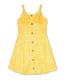 Big Girls Button Front Dress