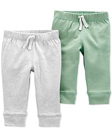 Baby 2-Pk. Cotton Jogger-Style Pants