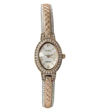 Women's Ladie Genuine Two-Tone Analog Bangle/Crystals Bezel Bracelet Watch