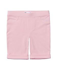 Toddler Girls Solid Bermuda Shorts