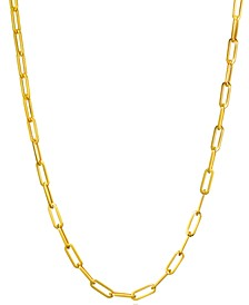 Paperclip Link Chain Necklaces in 14k Gold