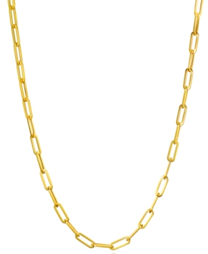 """Paperclip Link 18"""" Chain Necklace in 14k Gold"""