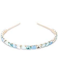 Aurora Aqua Faux Gemstone Headband