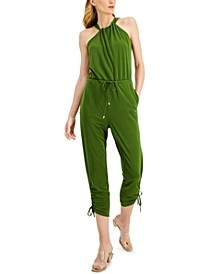 INC Petite Halter-Style Jumpsuit, Created for Macy's