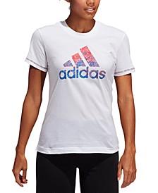 Plus Size Women's Americana Badge of Sport Logo T-Shirt
