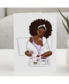Breakfast in Bed Greeting Card