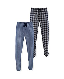 Men's Stretch Woven Sleep Pants, Pack of 2