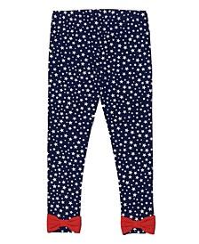 Toddler Girls Americana All Over Print Leggings