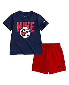 Little Boys Dri-Fit Shorts Set, 2 Piece