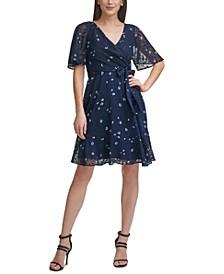 Textured Printed Dress