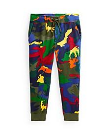 Little Boys Polo Pony Camouflage Fleece Jogger Pants