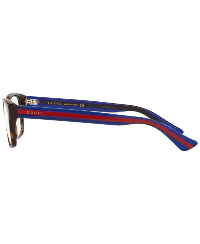 Gucci Gc001040 Men's Rectangle Eyeglasses & Reviews - Home - Macy's