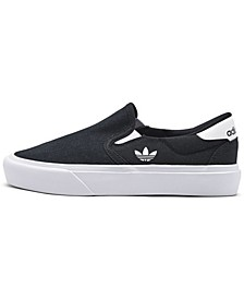 Big Kids Court Rallye Slip-On Casual Sneakers from Finish Line