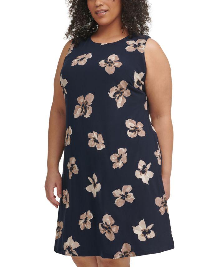 Tommy Hilfiger Plus Size Floral-Print Shift Dress & Reviews - Dresses - Plus Sizes - Macy's