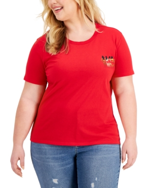Plus Trendy Bikini Graphic T-Shirt