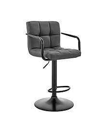 Laurant Adjustable Faux Leather Swivel Bar Stool