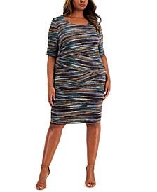 Plus Size Zig Zag Sheath Dress