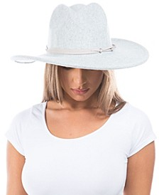 Women's Vegan Suede Knotted Band Wool Blend Felt Hat