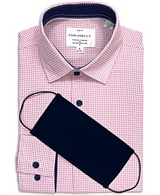 Con.Struct Men's Slim-Fit Performance Stretch Gingham Print Dress Shirt and Free Face Mask, Created for Macy's