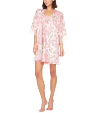 Trish Charmeuse Printed 2pc Travel Pajama Set